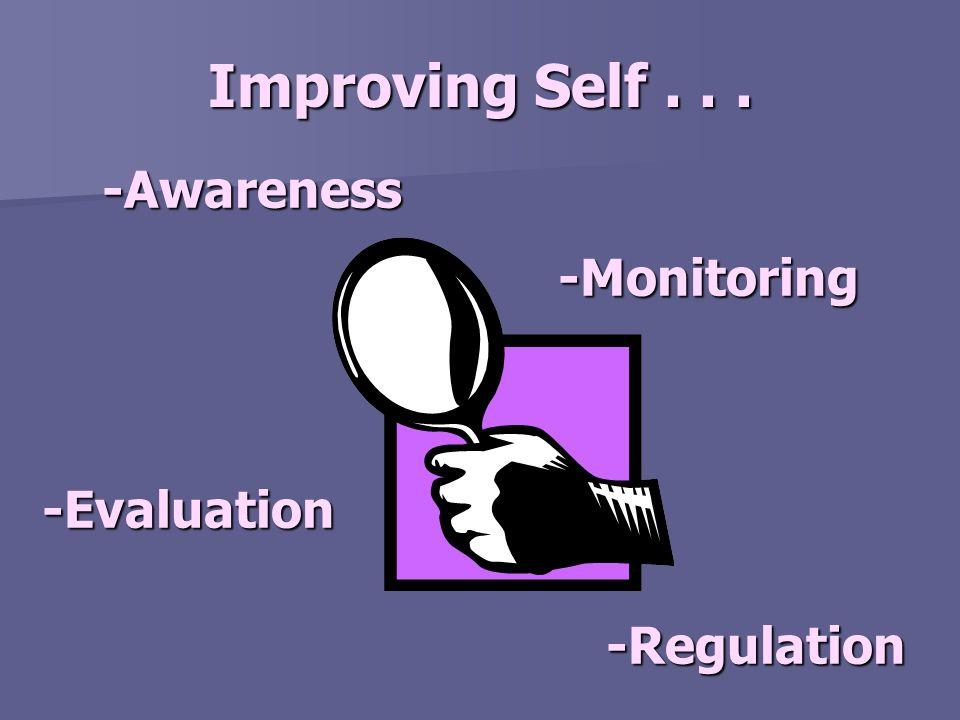 Improving Self... -Awareness -Monitoring -Evaluation -Regulation