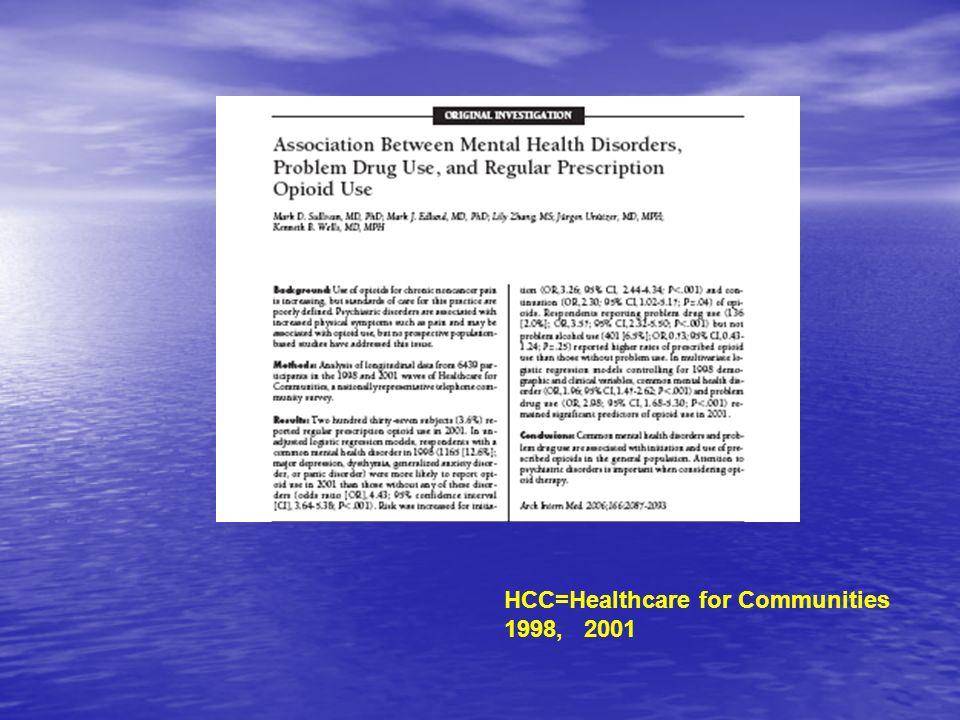 HCC=Healthcare for Communities 1998, 2001