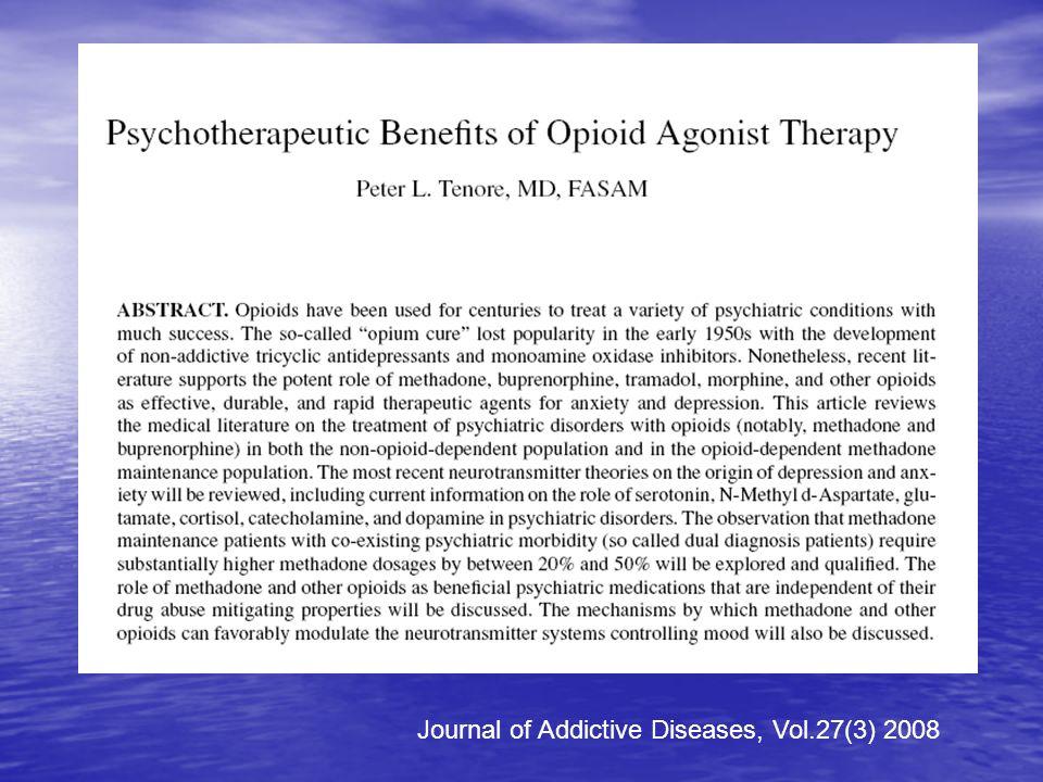 Journal of Addictive Diseases, Vol.27(3) 2008