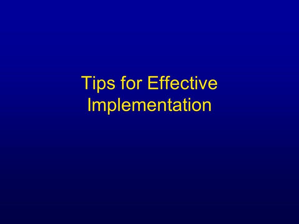 Tips for Effective Implementation