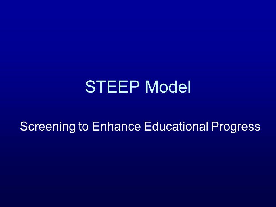 STEEP Model Screening to Enhance Educational Progress