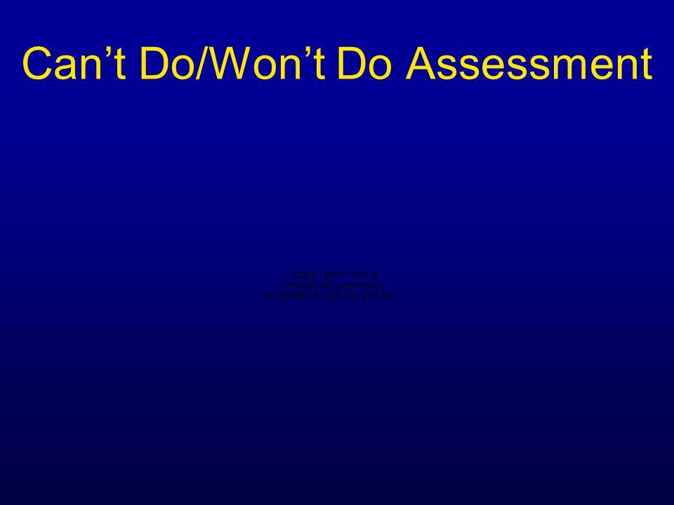 Cant Do/Wont Do Assessment