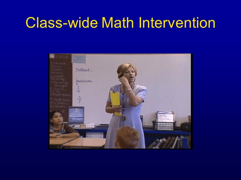 Class-wide Math Intervention