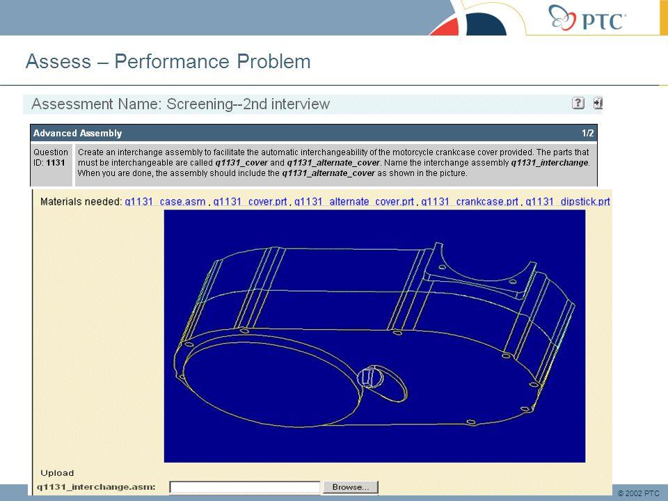 © 2002 PTC Assess – Performance Problem