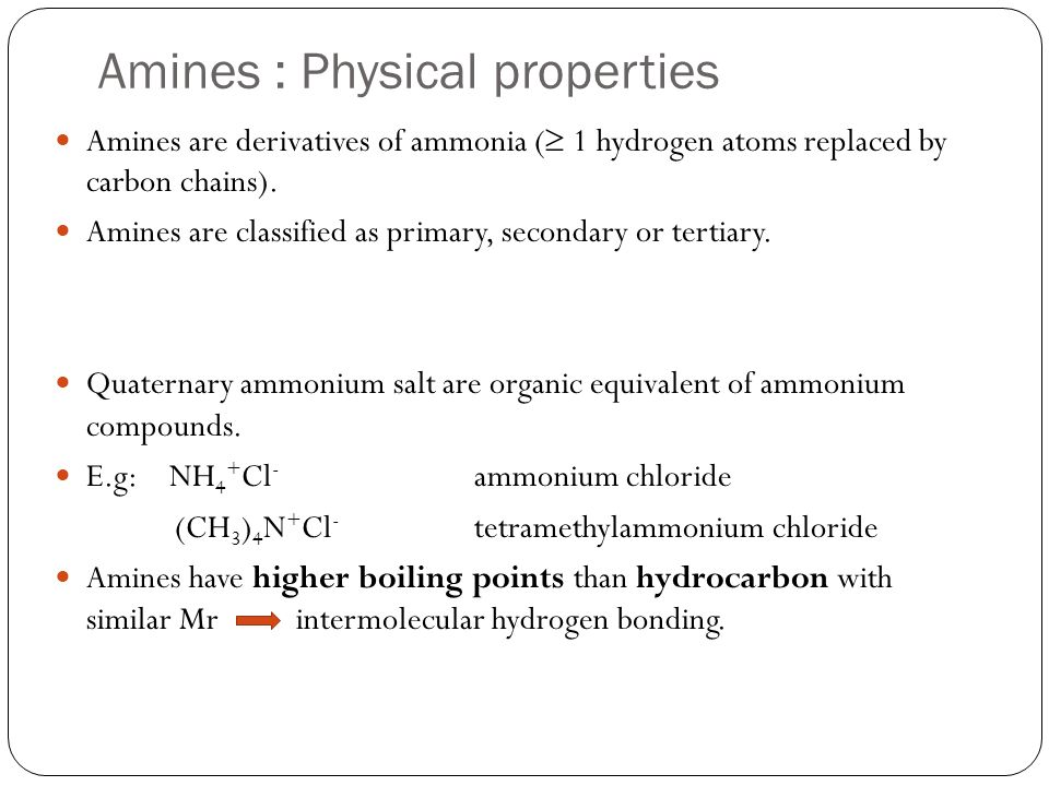 But amines have lower boiling point than alcohol because intermolecular hydrogen bonding in amines are weaker than alcohols.