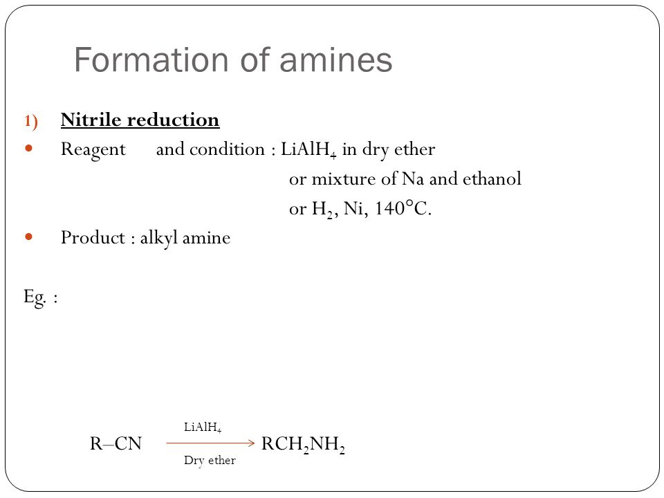 2) Reduction of nitrobenzene Reagent & condition : reflux with tin and excess conc.