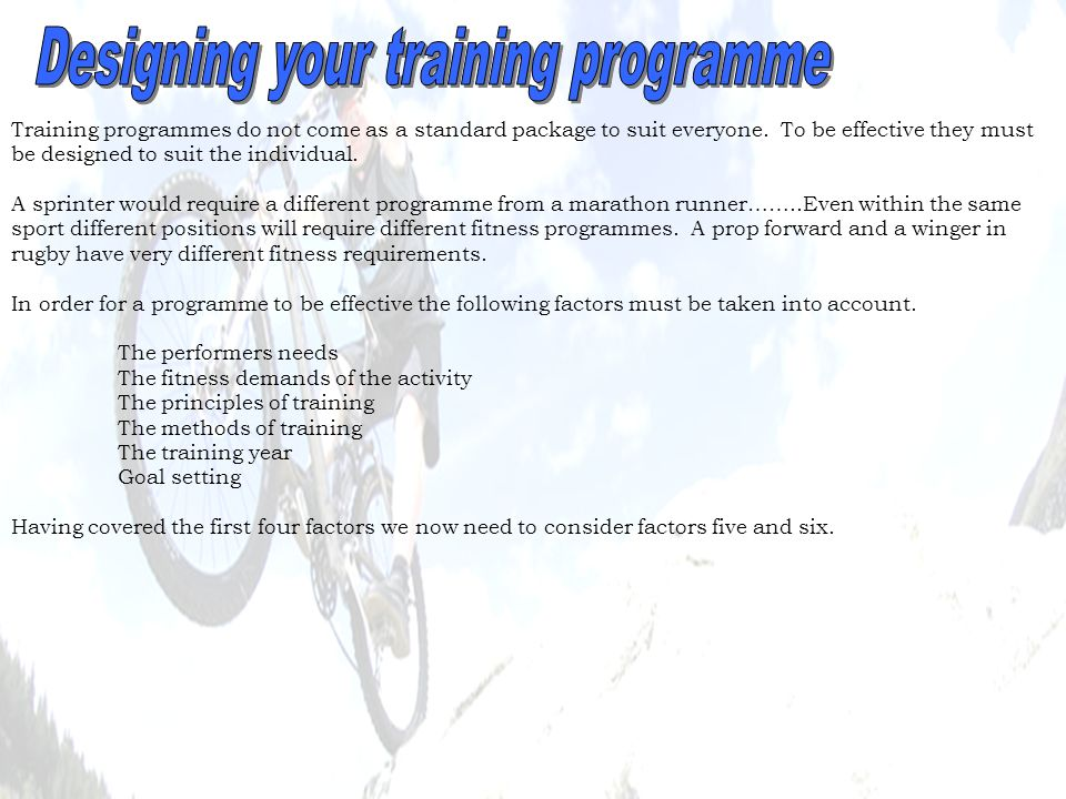 The training year can be divided into 3 different periods – this is known as PERIODISATION.