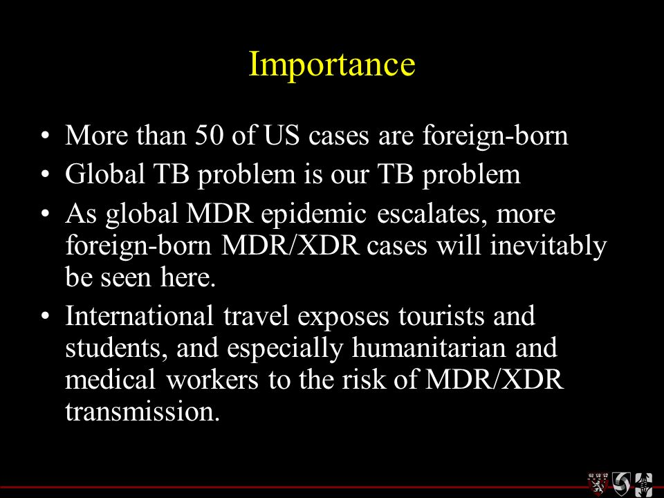 Stemming the Tide of Multidrug Resistant TB: Major Barriers to Addressing the Growing Epidemic A White Paper for the Institute of Medicine of the National Academies – November, 2008 –Harvard Medical School –Partners in Health –Brigham & Womens Hospital Lead authors: Salmaan Keshavjee, MD, PhD Kwonjune Seung, MD