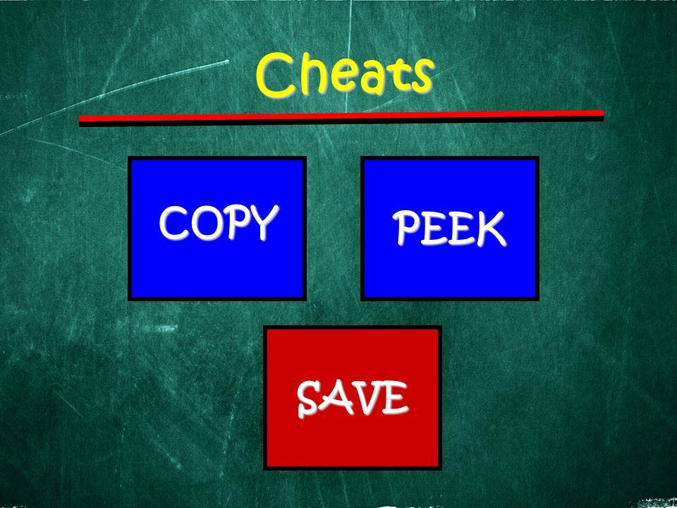 Cheats COPY PEEK SAVE
