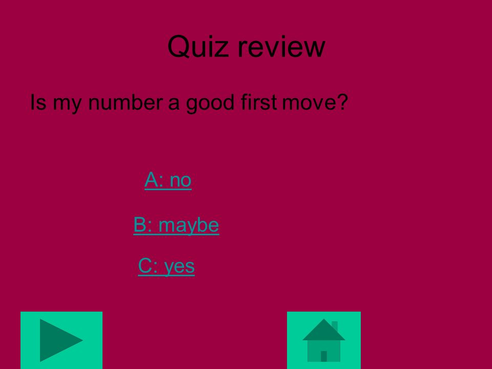 Review Quiz Is 13 a Fibonacci # ? A: yes B: no C: maybe