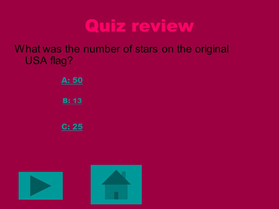 Quiz review Is my number a good first move A: no B: maybe C: yes