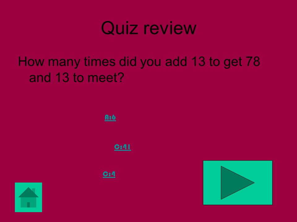 Quiz review Is my number prime A: Yes B: no C: sometimes
