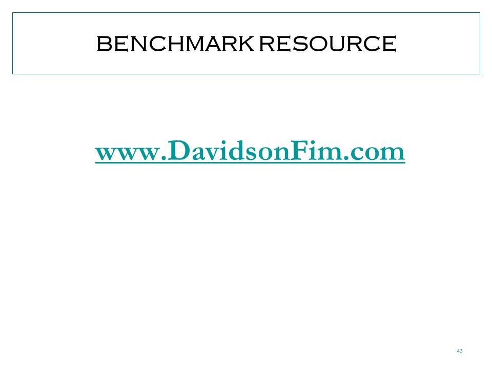 43 BENCHMARK RESOURCE www.DavidsonFim.com