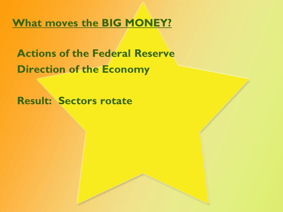 What moves the BIG MONEY.