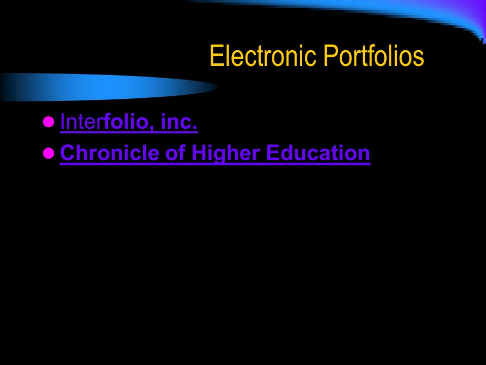 Electronic Portfolios Interfolio, inc. Interfolio, inc. Chronicle of Higher Education