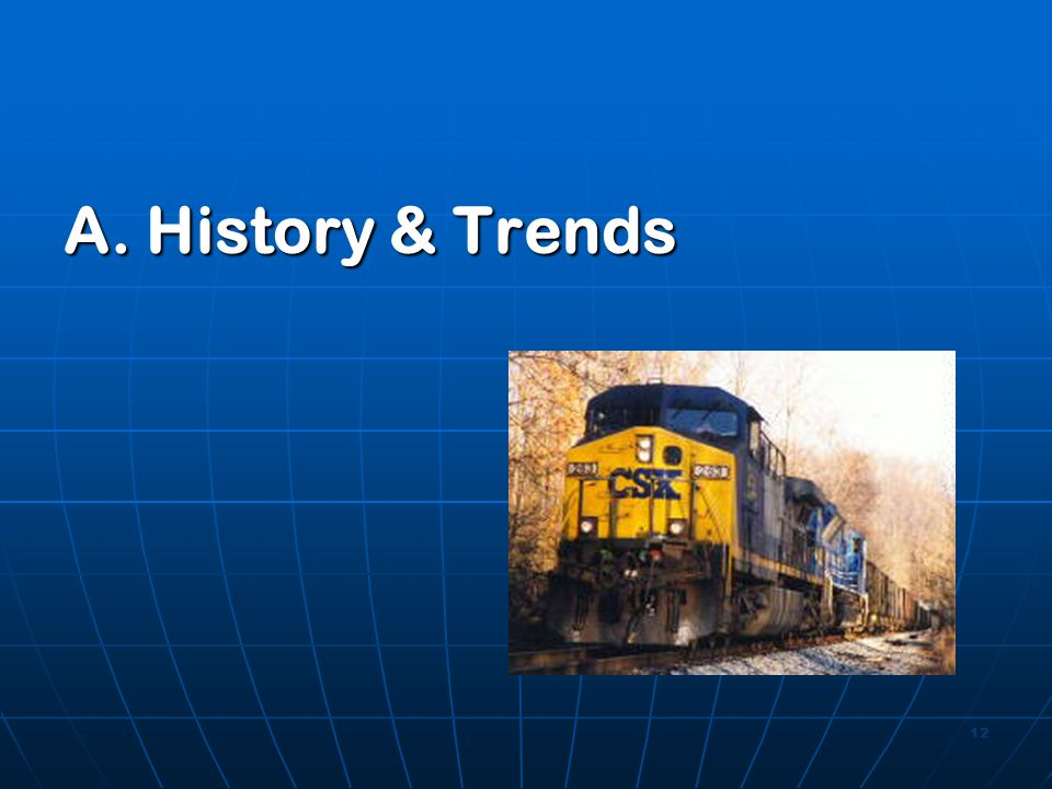 12 A. History & Trends