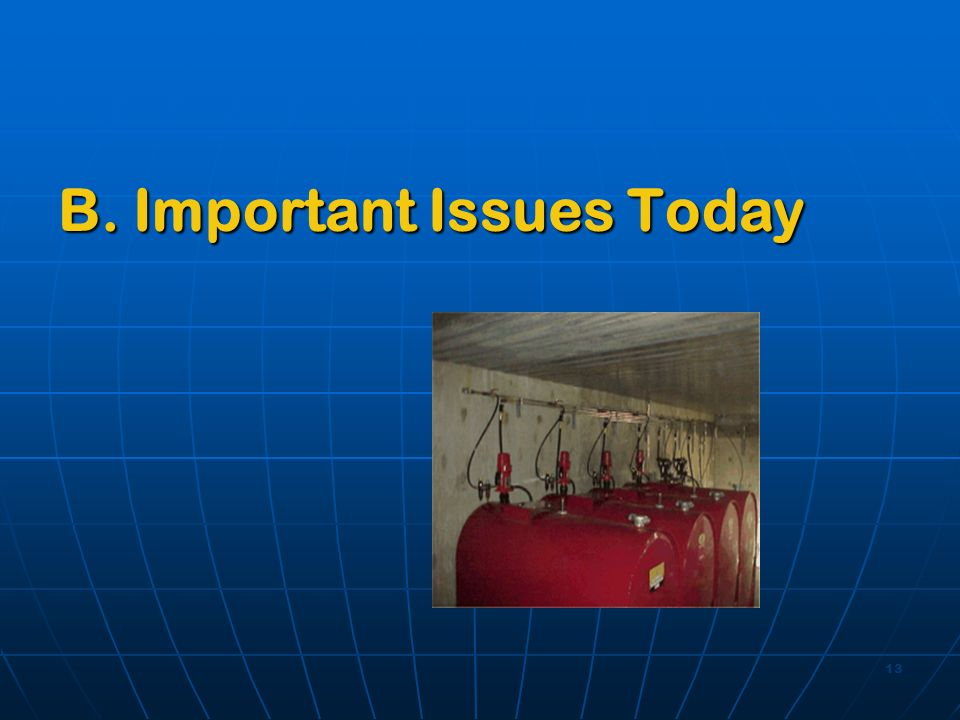13 B. Important Issues Today