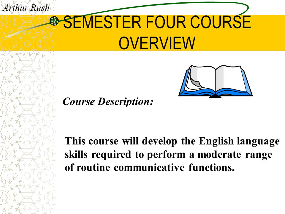 2212 GENERAL ENGLISH Your course overview...