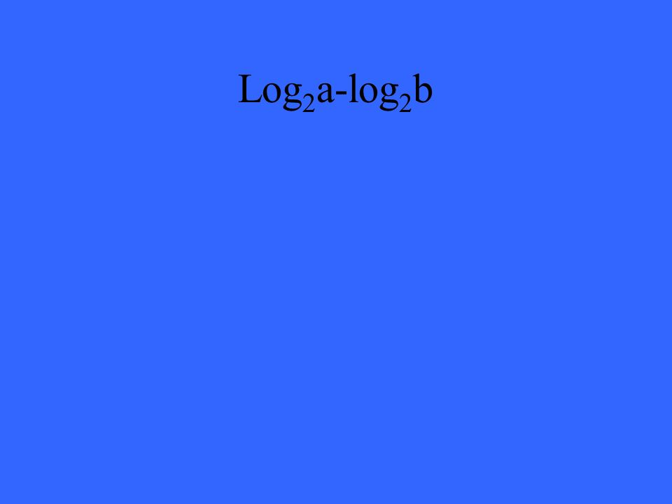 Log 2 a-log 2 b