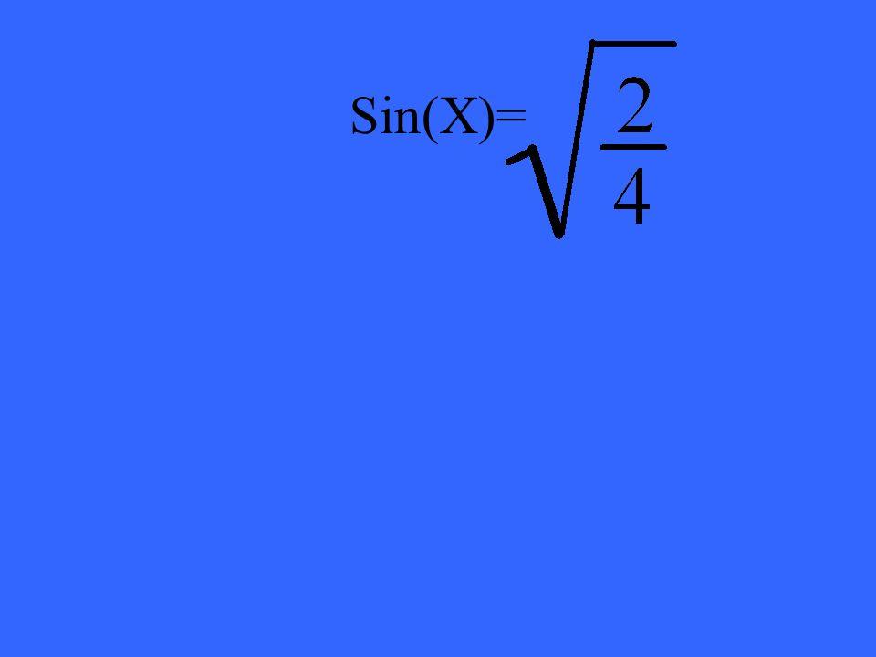 Sin(X)=