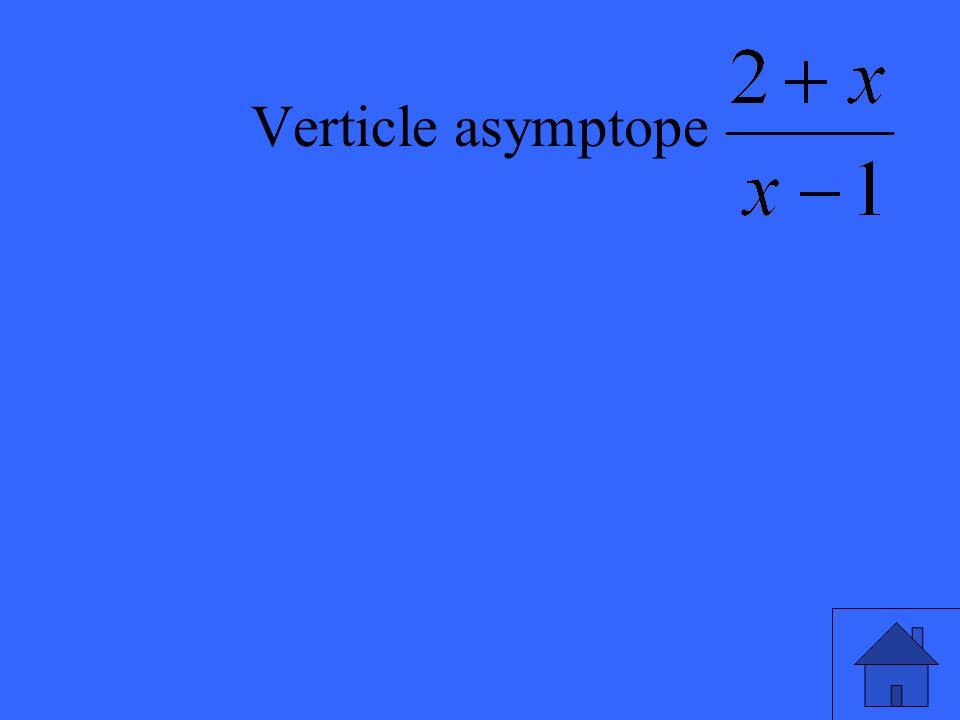 Verticle asymptope
