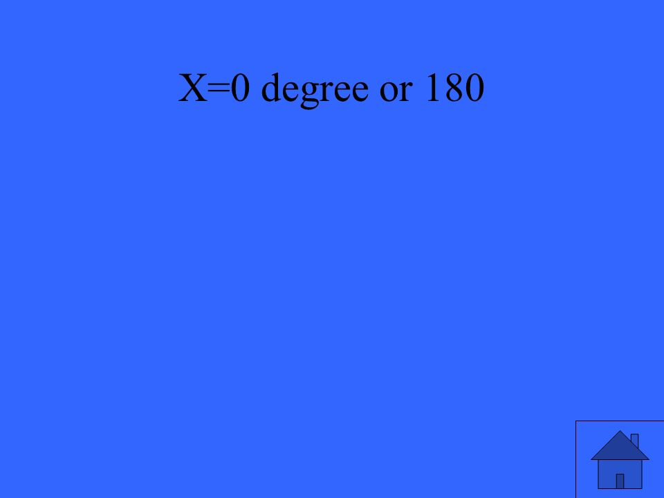 X=0 degree or 180