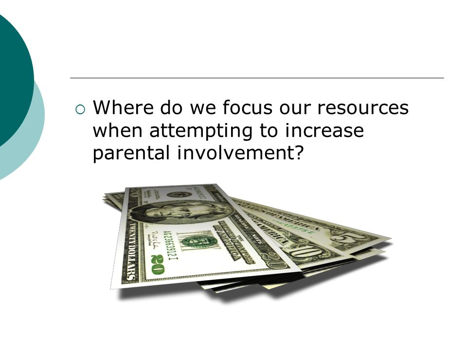 More questions…. How and when are parents most likely to be involved? Do differing types of parental involvement have different results for students?