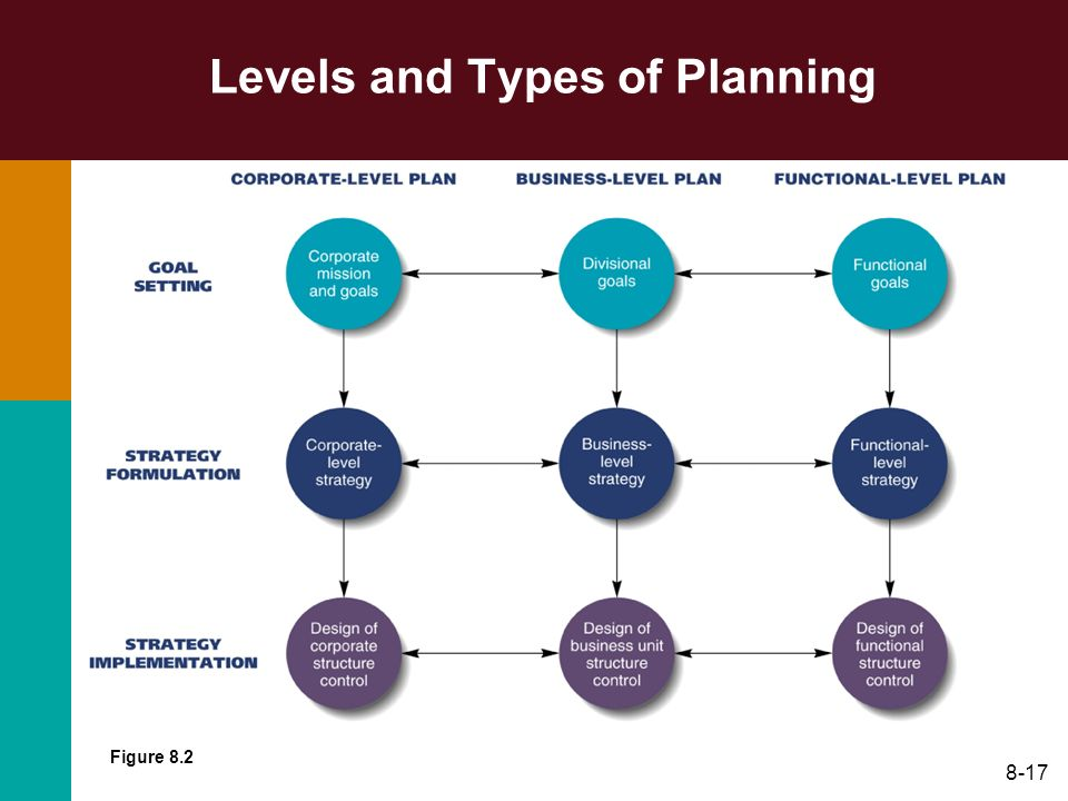 8-17 Levels and Types of Planning Figure 8.2