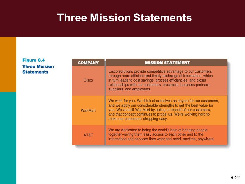 8-27 Three Mission Statements