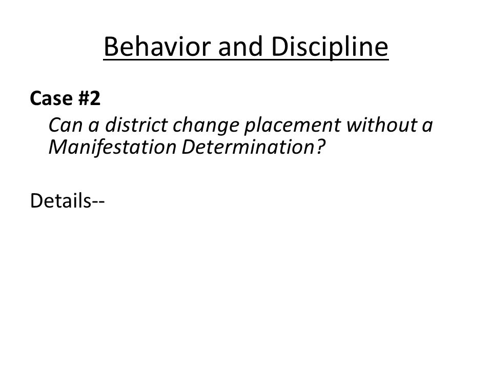 Evaluation Case #10 Does discussion of placement options prior to an IEP meeting equal predetermination.