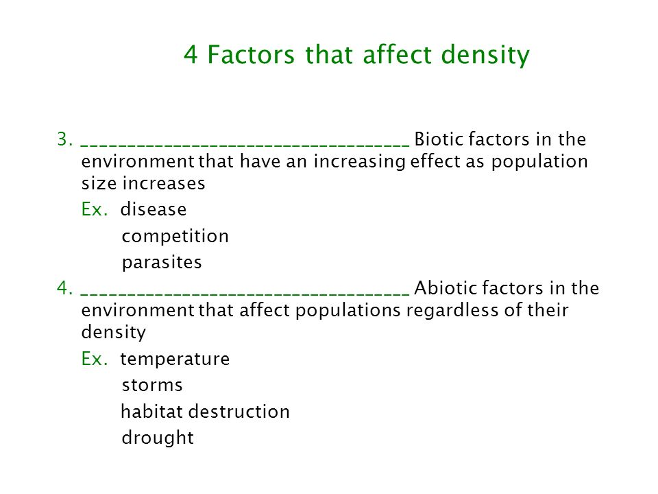 Three Key Features of Populations 3.