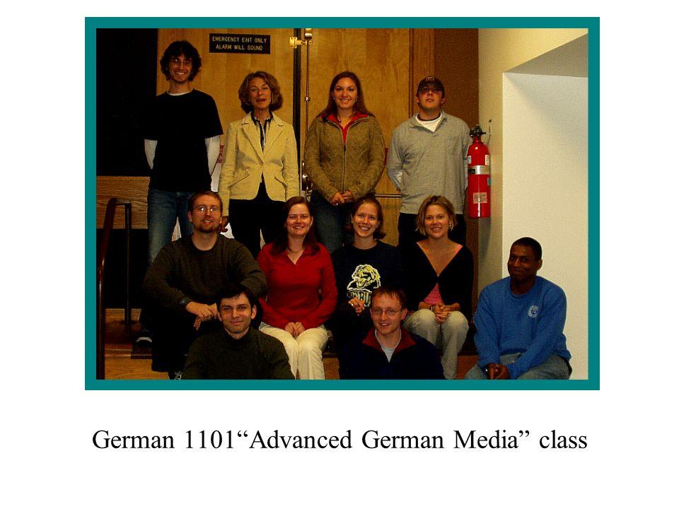 German 1101Advanced German Media class