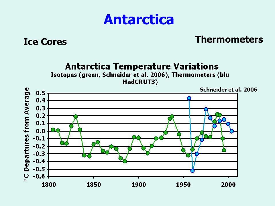 Schneider et al. 2006 Antarctica Thermometers Ice Cores