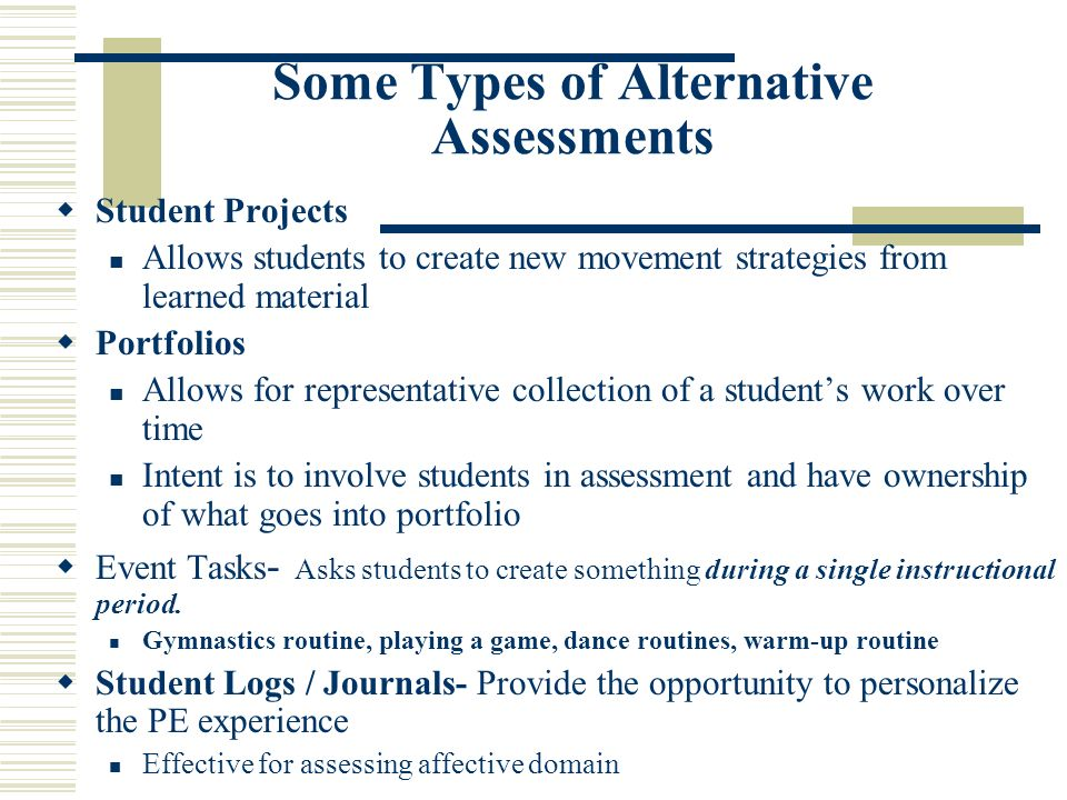 What is Rationale for Alternative Assessment.1. Accountability 2.