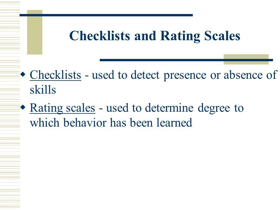 Establishing Criteria for Judging Alternative Assessments – The Rubric Rubrics are fixed scales and list of characteristics that describe performance for each points on a scale.