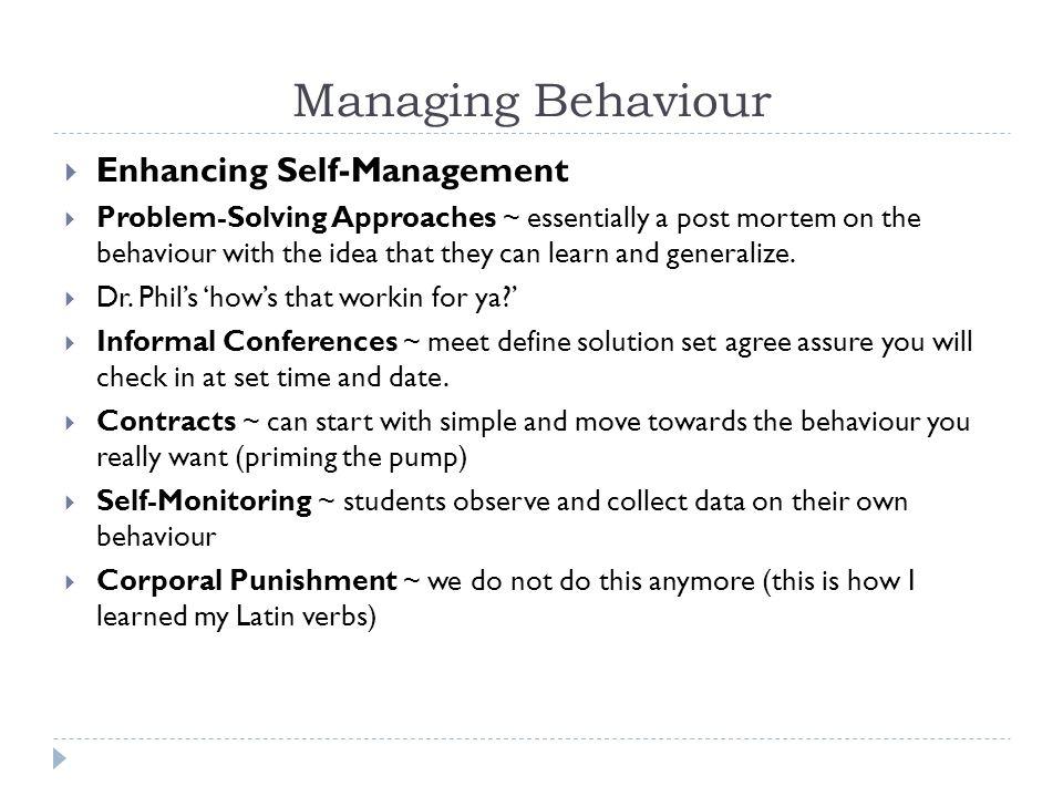 Behaviour Contract Contract between _________________________ and __________________________.