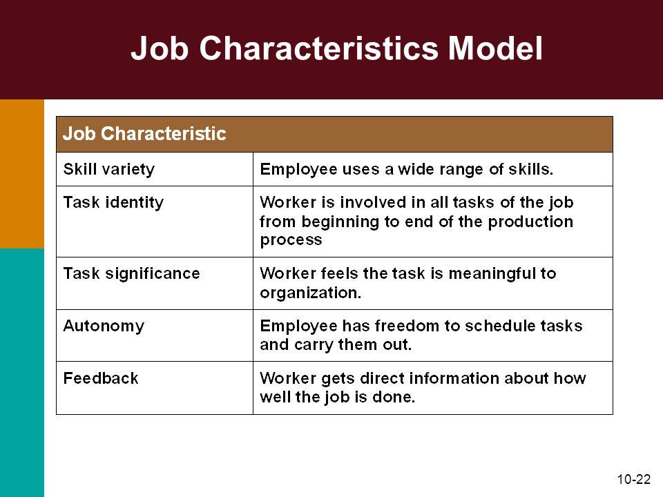 10-22 Job Characteristics Model