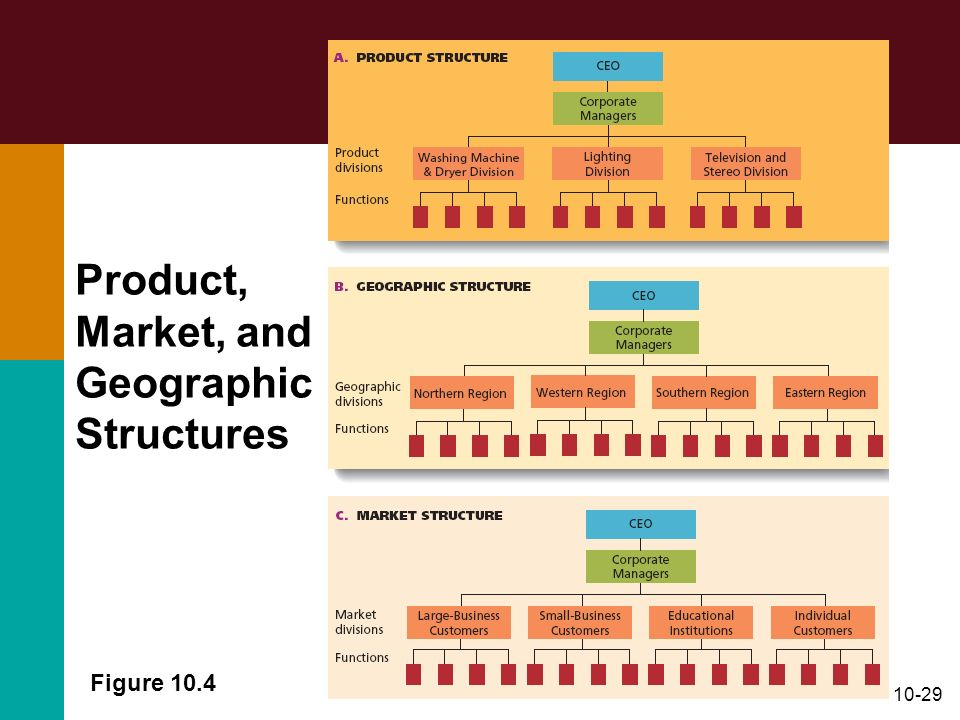 10-29 Figure 10.4 Product, Market, and Geographic Structures