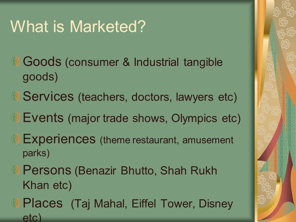 What is Marketed.