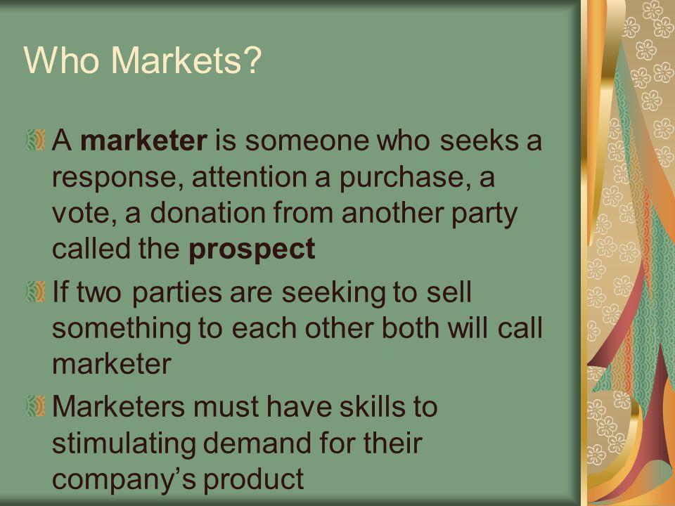 Who Markets.