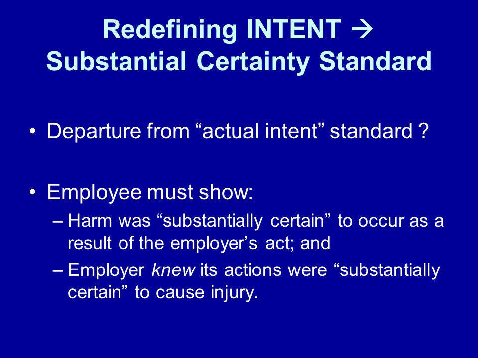 2.Only applied to bar evidence of non- compliance with Cal-OSHA, not federal or other state regulations 3.Statute amended in 1999 –Common law rule restored, and defendants are now once again permitted to use Cal- OSHA provisions to establish standards and duties of care in negligence actions against private third parties.