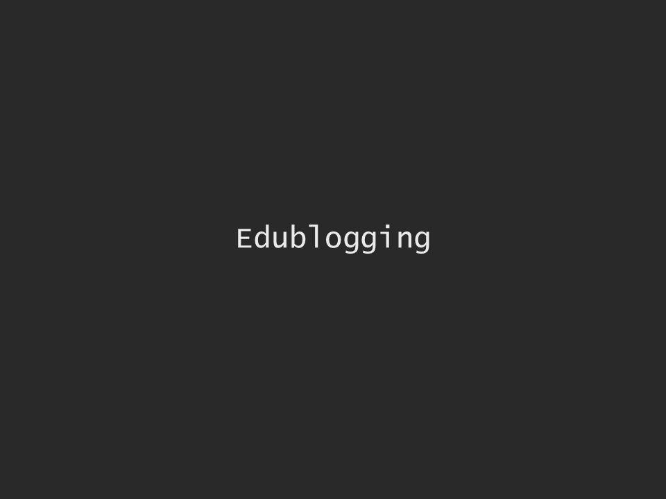 Edublogging