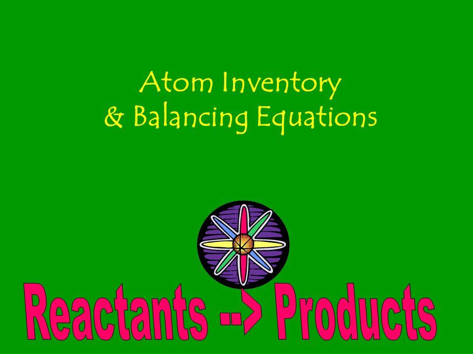 Atom Inventory & Balancing Equations