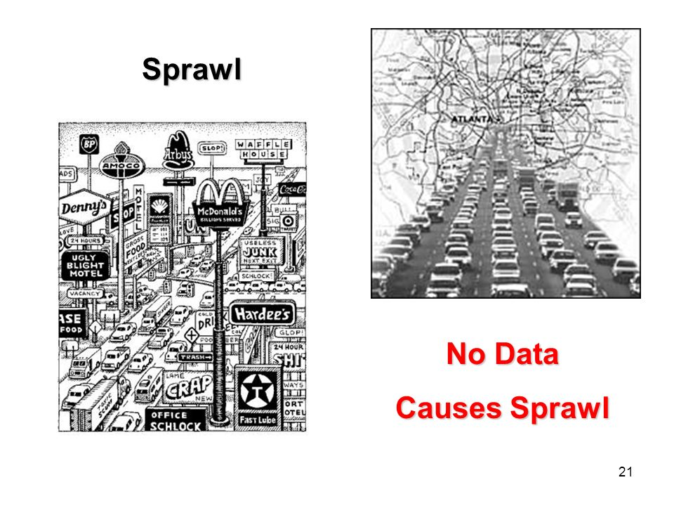 21 Sprawl No Data Causes Sprawl