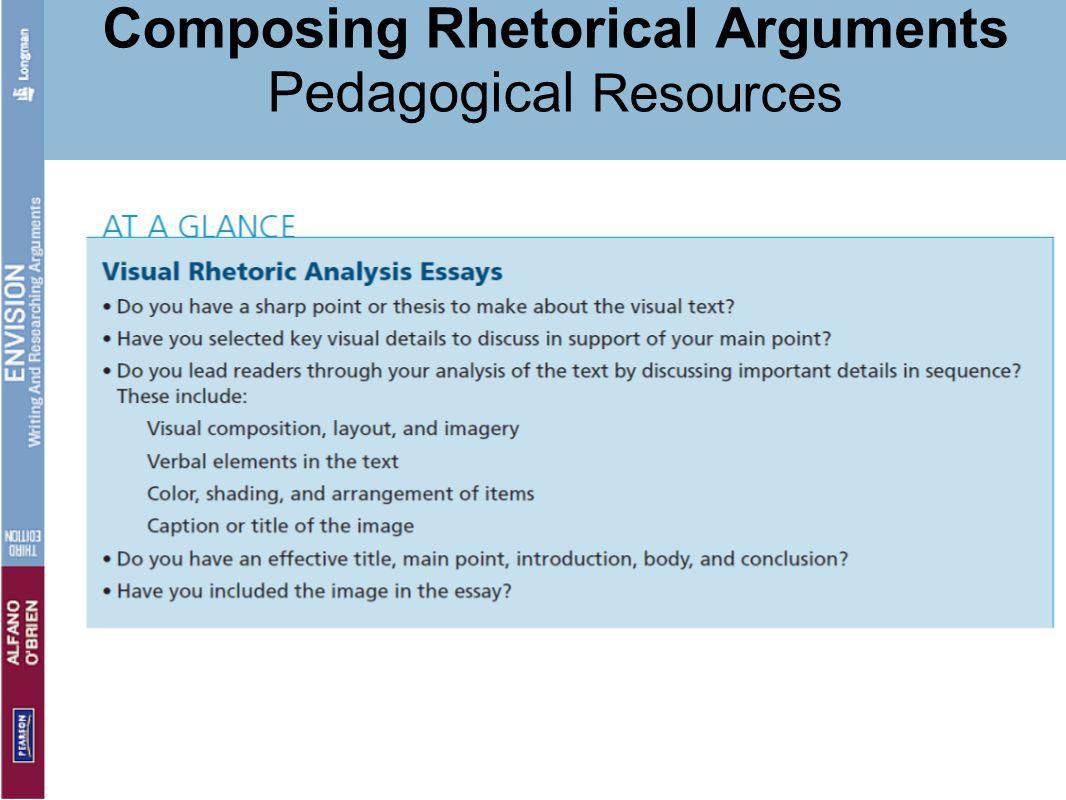 Composing Rhetorical Arguments Pedagogical Resources