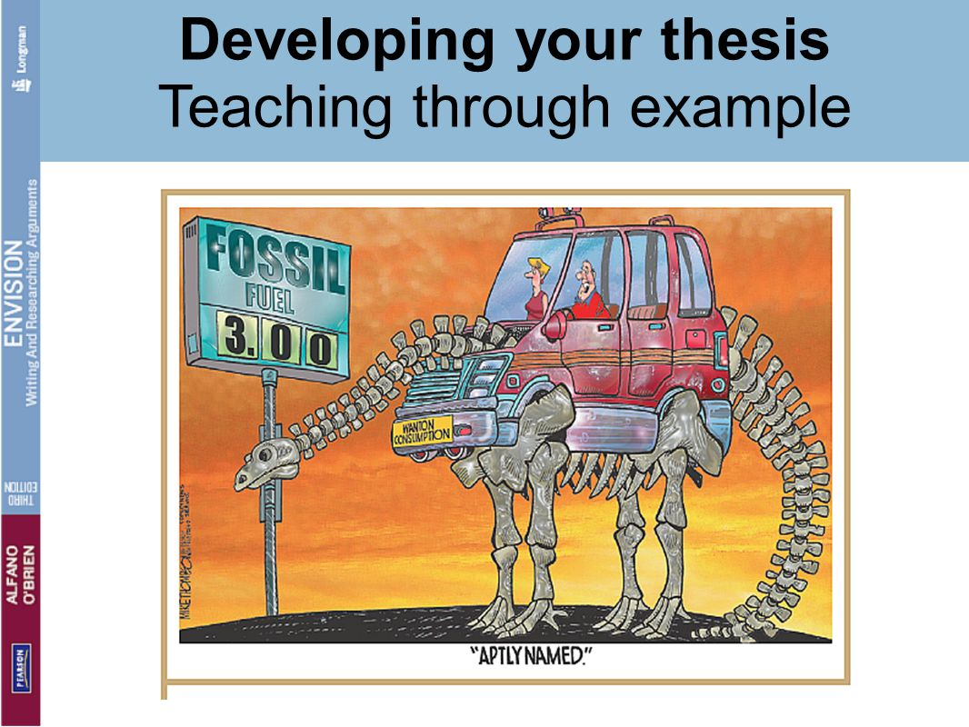Developing your thesis Teaching through example