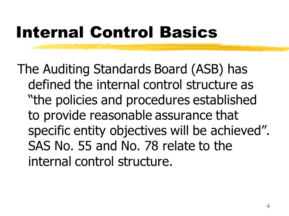 3 Why Consider Internal Controls.