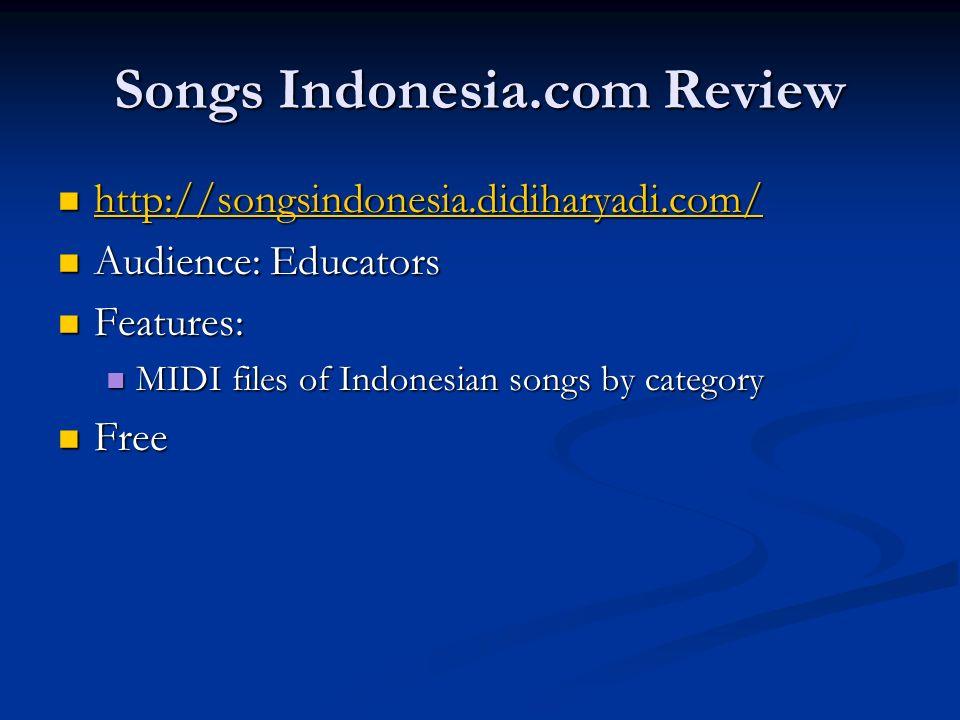 Songs Indonesia.com Review http://songsindonesia.didiharyadi.com/ http://songsindonesia.didiharyadi.com/ http://songsindonesia.didiharyadi.com/ Audien