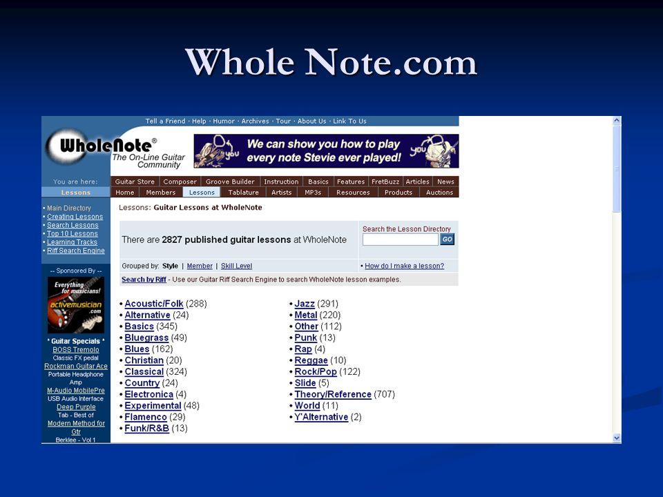 Whole Note.com