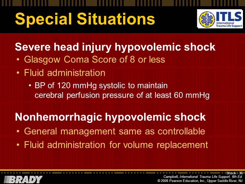 Campbell, International Trauma Life Support, 6th Ed. © 2008 Pearson Education, Inc., Upper Saddle River, NJ Mechanical Shock Causes Myocardial contusi